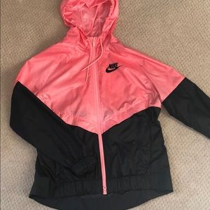 Nike women's windbreaker pink/black size M